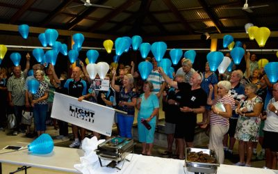 RV Homebase Lights The Night For Blood Cancer